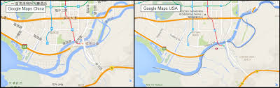 map usa rivers there is only 1 shenzhen river so why does maps show 2