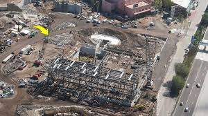 update aerial photos star wars land toy story land