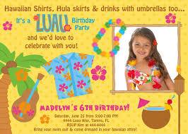 birthday invites luau birthday invitations free printable free