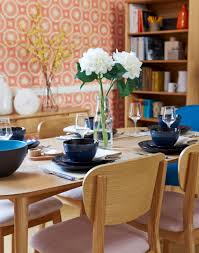 dining room wallpaper ideas modern dining room with feature circles wallpaper ideas for the
