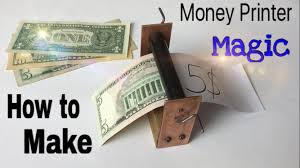 hide printer how to make a money printer machine easy way magic trick
