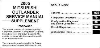 2005 mitsubishi outlander wiring diagram manual original