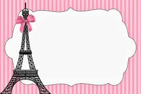 paris invitations and free party printables cumpleaños