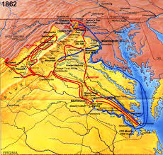 Washington Dc On A Map by The Civil War At A Glance