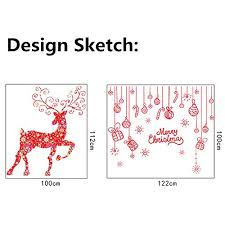 Home Decor Show Petit Bella Red Reindeer Snowflake Christmas Wall Sticker Home