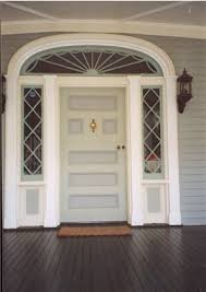 front door of a 19th century georgian colonial revival house