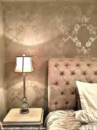 wall stencils for bedroom wall stencils bedroom damask stencil for bedroom feature wall wall