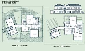 villa plans spanish home design villa floor plans spanish villa plans 6 classy