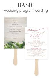 wedding ceremony programs wording how to word your wedding programs invitations by