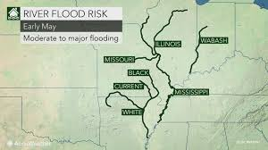 Map Of The Ohio River by Central Us More Rivers To Swell To Major Or Record Flood Stage