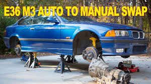 bmw e36 m3 auto to manual swap youtube