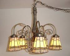 Antique Iron Chandeliers Stained Glass Wrought Iron Chandeliers Ebay