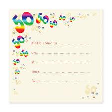 free printable 50th birthday party invitation templates drevio