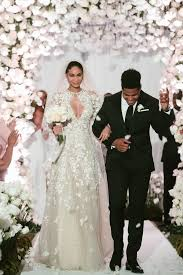 pink wedding dress chanel iman zuhair murad wedding dress popsugar fashion