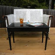 coffee table piano bench makes the perfect porch coffee table into
