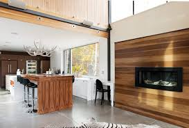 kitchen island montreal delightful wood slat wall with two toned fireplace kitchen island