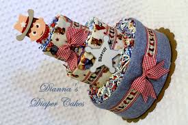 sheriff country western baby diaper cake shower gift or