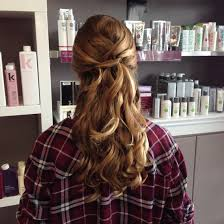 grade 8 grad hair half up with curls grad gradhair prom updo
