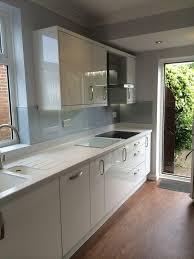 corian silver birch integrated drainboard kitchen renovation