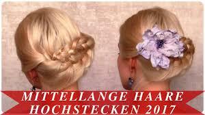 Frisuren Mittellange Haare Hochstecken by Mittellange Haare Hochstecken 2017