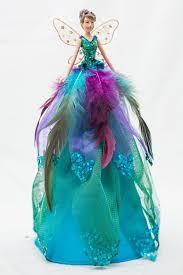 stunning peacock fairy angel christmas tree topper decoration 28cm