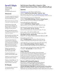 Content Writer Resume Resume Services Executive Resume Writing Service Sample Cio