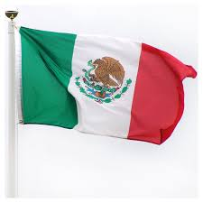 Maroon And White Flag Mexico Flag 3ft X 5ft Superknit Polyester