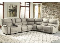 Sectional Sofa With Recliner Bohannon Power Reclining Sectional With Console Becker Furniture