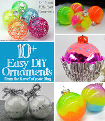 ilovetocreate 10 easy diy ornament roundup