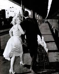 marilyn and arthur dash to a waiting train at washington d c u0027s