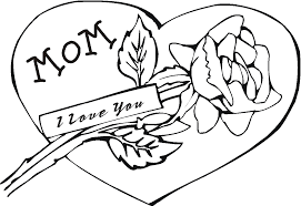 free coloring pages of cards for moms happy valentines day mom