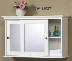 Small Wall Cabinets For Bathroom White 2 Drawer Hanging Bathroom Wall Medicine Cabinet Storage