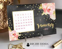 Floral Desk Accessories 2018 Planner 2018 Organizer Office Calendar Office Accessories