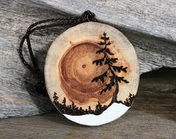 the rising sun handmade driftwood tree ornament wood burning