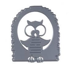 online shop 70 82mm customized halloween owl stencil metal cutting