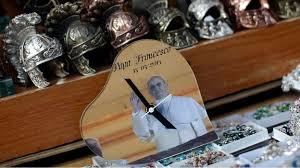 pope francis souvenirs pope francis souvenirs go on sale outside vatican itv news