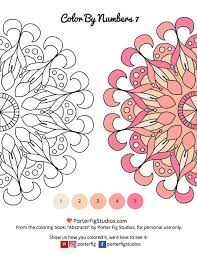 printable mandalas coloring adults color numbers 7