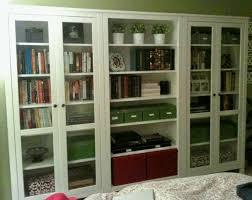 Ikea Bookshelf Boxes Awesome White Ikea Bookshelves With Glass Doors And Shelves With