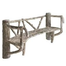 antique garden bench with faux bois cast iron legs for sale at 1stdibs