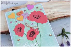 red poppies poppystamps