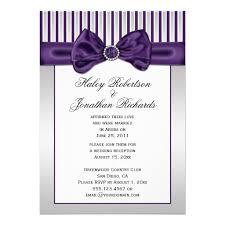 purple and silver wedding invitations personalized black silver wedding invitations