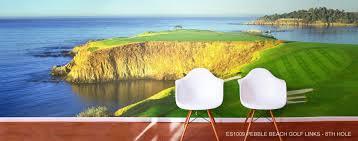 golf murals golf scene wallpaper