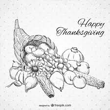 happy thanksgiving drawing vector free