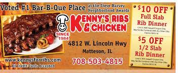 kenny u0027s ribs u0026 chicken matteson il barbecue restaurant