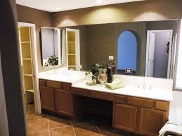 double sink bathroom vanity with makeup table mirrored vanity