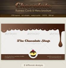 Business Cards Long Beach Chocolate Business Cards And Menu Brochure Startupstacks Com