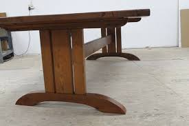 Mission Style Dining Room Tables Hand Made Mission Style Trestle Base For Dining Table By