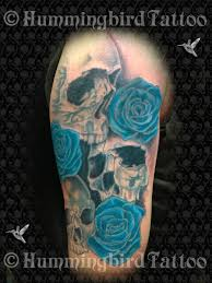 skulls and blue sleeve