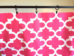Dark Pink Shower Curtain by Pink Moroccan Geometric Curtains 63 84 96 108 120