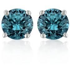 blue diamond stud earrings blue stud earrings shop for blue stud earrings on polyvore